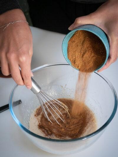ajouter le sucre de fleur de coco